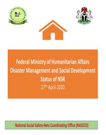 Status of NSR as at 27th April 2020