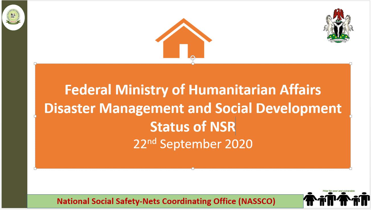 Status of NSR as at 22nd September 2020
